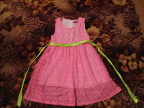 Яркое Платье,сарафан от 3 до 4 лет Стразы