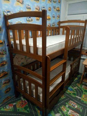 Купить кровать кроватку двухъярусную трансформер, мебель в детскую
