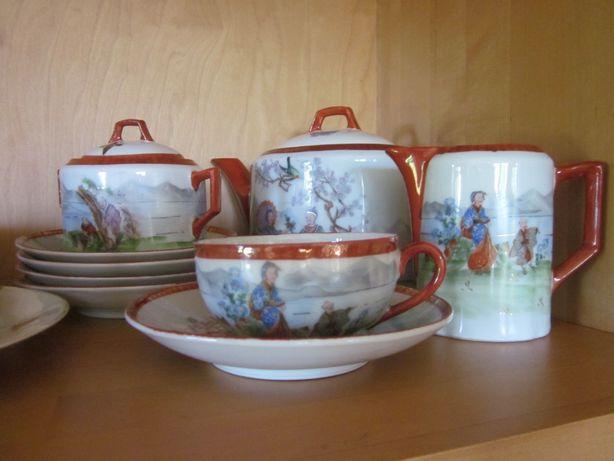 serwis do herbaty KPM stara porcelana japan bunt