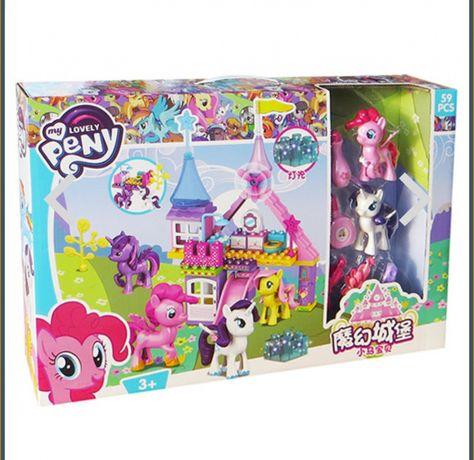 Конструктор «My little pony» волшебный замок пони, 58 крупных деталей