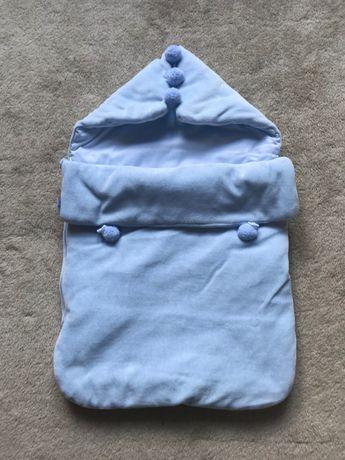 Śpiworek niemowlęcy do fotelika i wózka