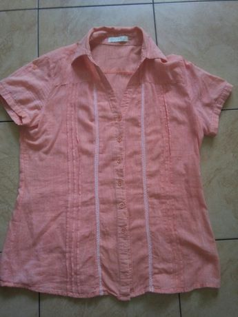 ELEGANCKA Koszula bluzka r. M/L pomarańcz krótki rękaw wysyłka