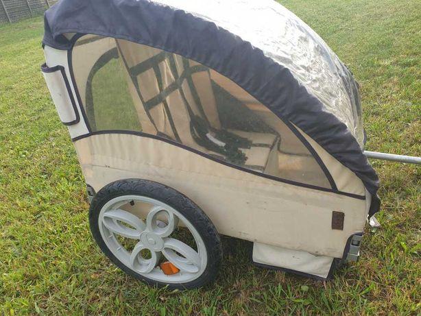 Riksza wózek do roweru dla dwójki dzieci przyczepka rowerowa