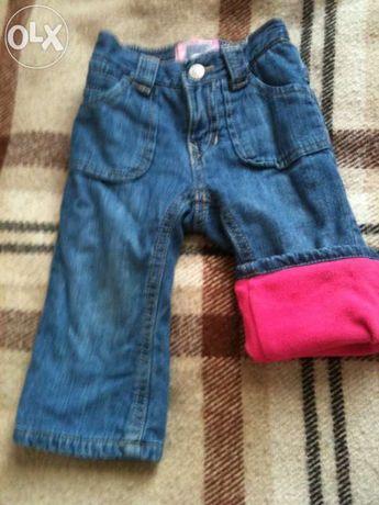 Фірмові джинси на байці 12 міс.