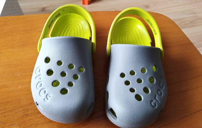 Crocs dla dziecka 24/25 szaro-żółte.