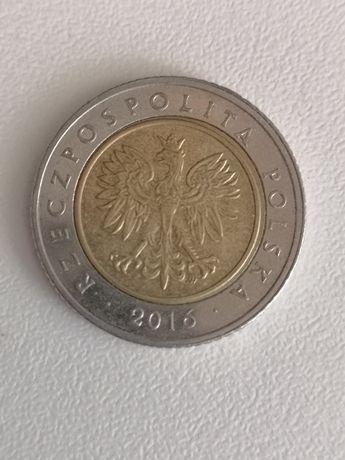 Destrukt monety 5 zl z 2016 r