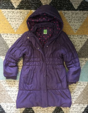Długa kurtka jesienno zimowa z kapturem John Lewis 9 lat