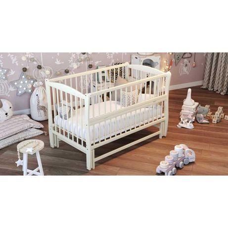 Ліжко дитяче Дубик-М Еліт на шарнірах+ відкидна боковина + різьблення