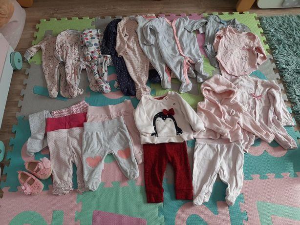 Paczka, zestaw, ubrań dla dziewczynki, rozmiar 56-62 cm, ubranka