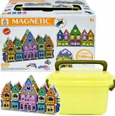 Магнитный конструктор Magnetic «ЗАМОК» на 150 деталей в чемоданчике.