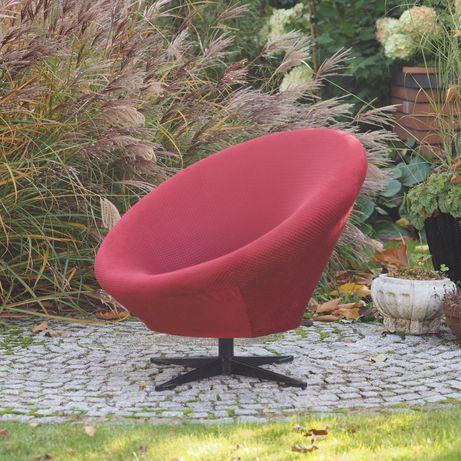 Fotel muszelka Prl po renowacji