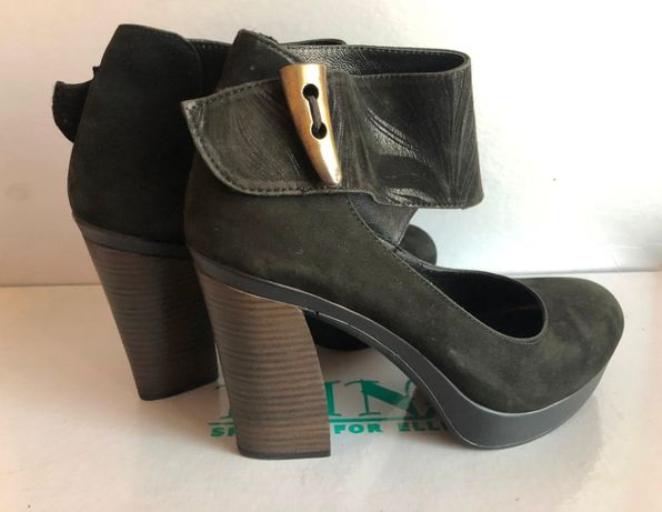 Замшевые туфли 39