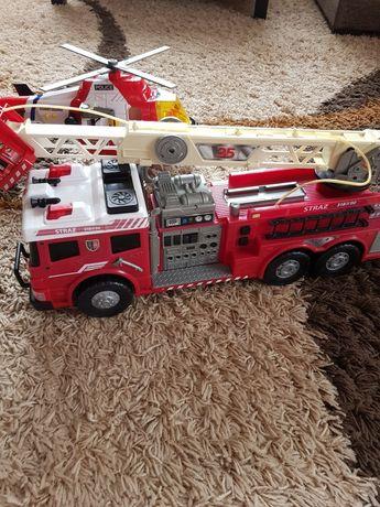 Straż pożarna, helikopter ratunkowy zabawki na baterie świecą