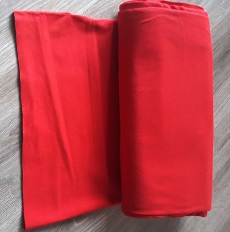 Rękaw bawełniany czerwony szerokość 36cm - 8 zł/mb