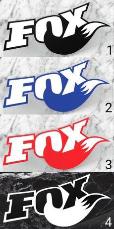 Naklejki FOX RACING SHOX zawias amotyrzatory zawieszenie cross enduro