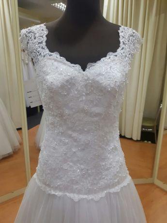Suknia ślubna biała tiulowa 36 38 40 WYPRZEDAŻ LUBLIN