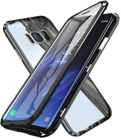 Etui 3w1 Magnetic GLASS 360° - Alu + Szkło do Samsung Galaxy S8 Plus