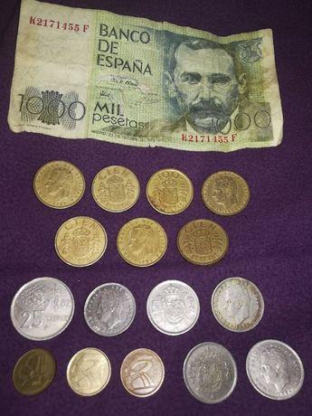 Nota e Moedas de Espanha / Pesetas