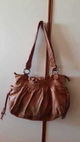 Bolsa/Mala de mão cor camel