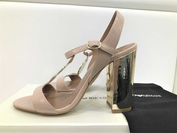 EMPORIO ARMANI - nowe sandały nude roz. 39