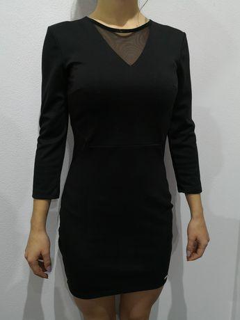 Sukienka sylwestrowa, imprezowa, Mohito 34, 36 czarna z przeswitami