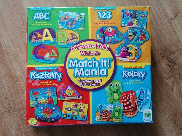 Match it mania puzzle 16 rodzajów puzzli, jak nowe.