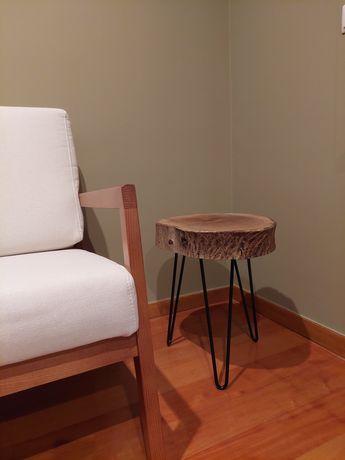 Mesas de apoio rústicas - Rodela de Nogueira / Sobreiro