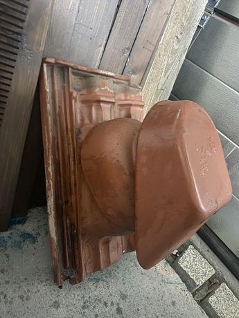Dachówka kominek wentylacyjny tondach  falcówka angoba miedziana