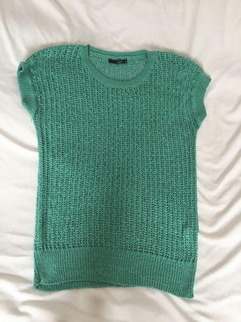 Zielony pulower, bezrękawnik, kamizelka