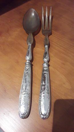 Antigas peças com cabo em prata