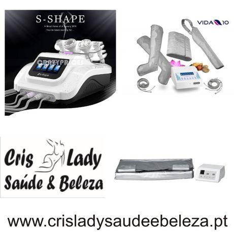 Promoção Pack 4 Maquina Multifunções S-Shape Cavitação+ Presso+ Sauna
