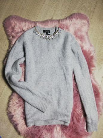Sweter damski wełna z domieszką kaszmiru