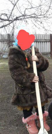 Пальто,дублёнка,шуба для девочки