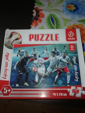 Puzzle piłkarze i mig 29
