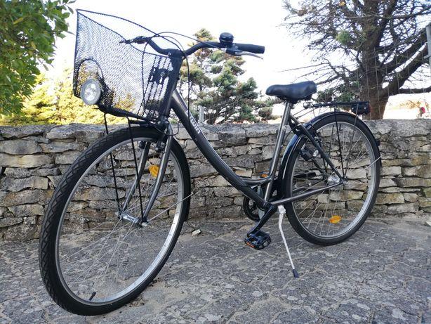 Bicicleta elops com cesto como nova