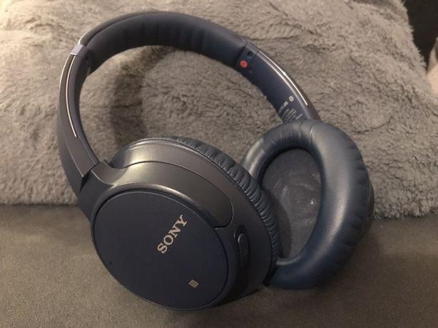 Sluchawki bezprzewodowe Sony wh-ch700n niebieckie ANC redukcja szumow