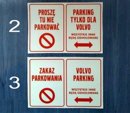 Naklejka VOLVO parking