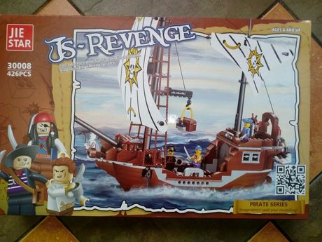 Klocki dla chłopca Statek Piracki 426 el