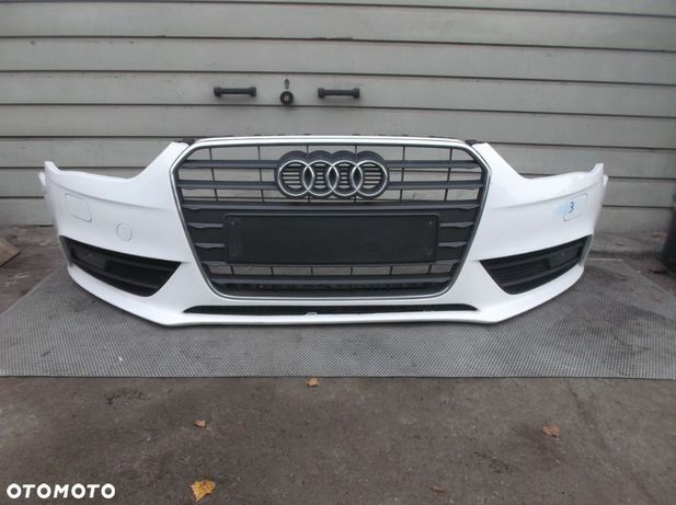 Audi A4 B8 LIFT Zderzak Przód Grill Atrapa Halogen Kratki