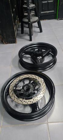 Jantes supermotard+discos 320mm+cramalheira+pneus vendo/troco
