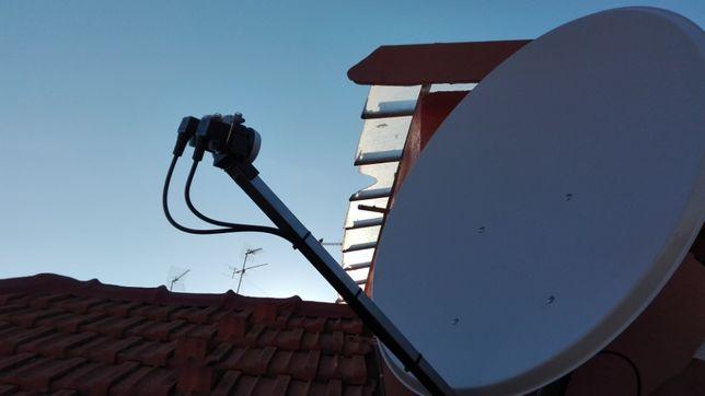 assistência técnica a parabólicas, antenas TDT, Fransat, TNT Sat, etc.