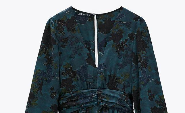 Неймовірна сукня з красивим рослинним принтом, неймовірна тканина