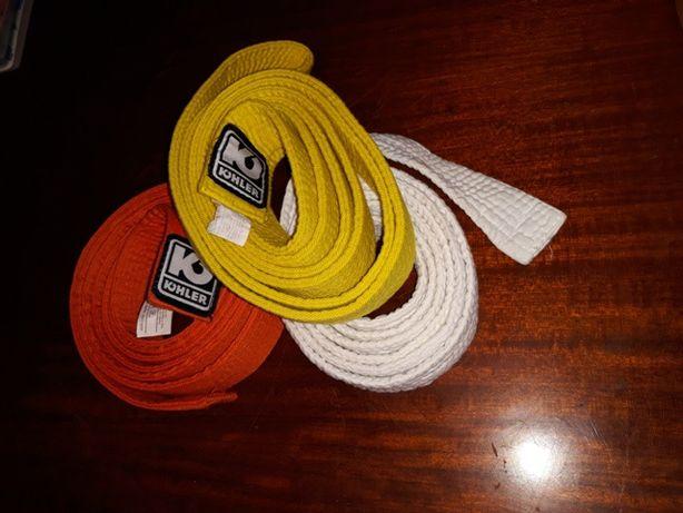 3 cinturões (karate/judo)