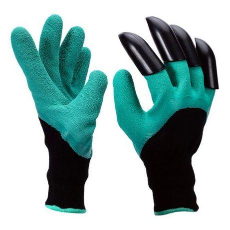 Цена за пару! Садовые перчатки с когтями Garden Genie Gloves