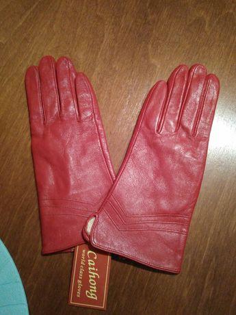 Rękawiczki eko skóra nowe rozmiar 8