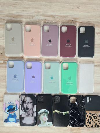 Etui obudowa pokrowiec case na iphone 11 silikonowe z jabłkiem