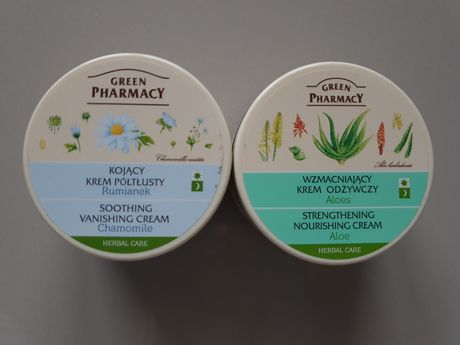NOWY krem do twarzy półtłusty 300ml green pharmacy aloes rumianek