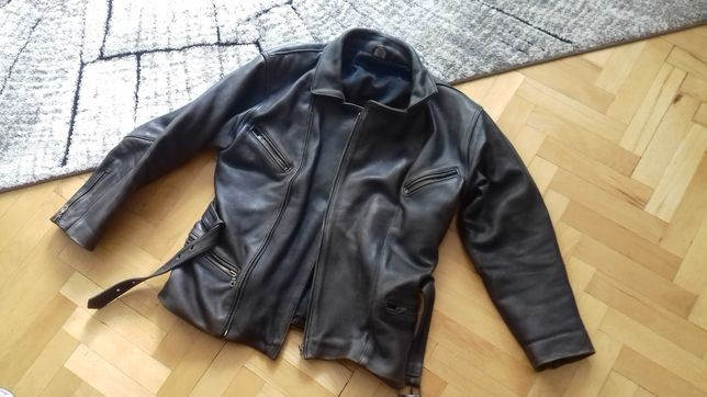 Kurtka skórzana męska motorowa - vintage - Biker - Ramoneska