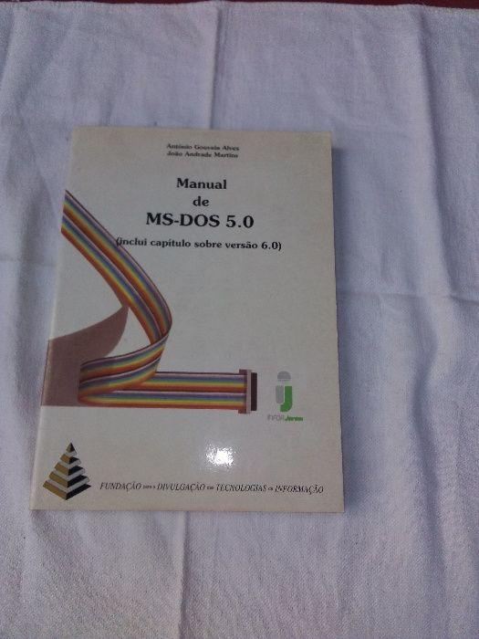 Manuais de MS-DOS 5.0 e Word - Windows 6 Alvalade - imagem 1