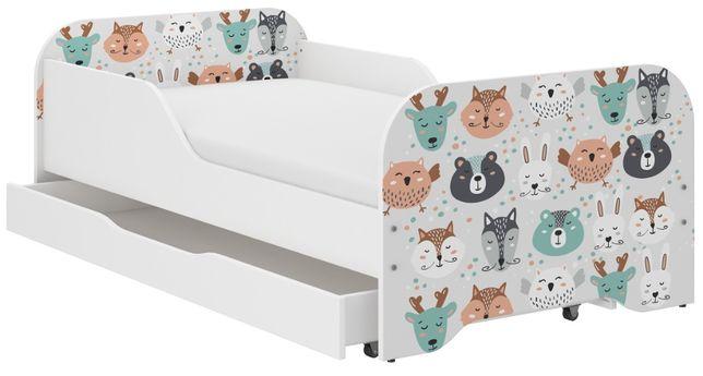 Łóżko MIKI dziecięce 160x80 + materac + szuflada ! DUŻO WZORÓW